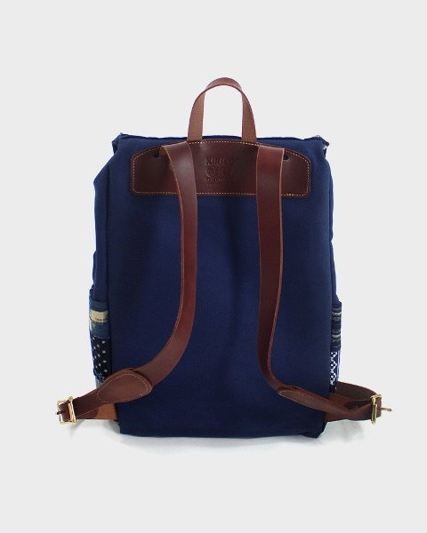 kiriko red cloud collab backpack long john blog brand portland limited edition boro sashiko blue indigo handmade craftsmanship blue indigo denim jeans(3)