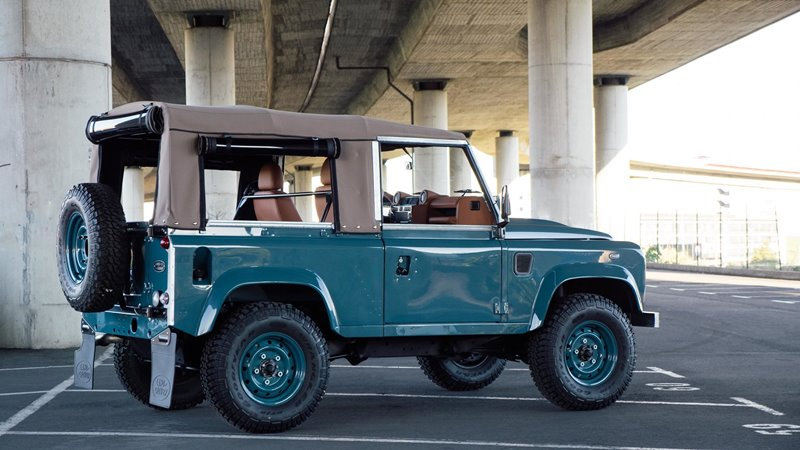 landrover defender longjohn Marine Blue High Quality Glasurit Paint car auto sale denimhead indigo blue blauw vintage 4x4 denimpeople classic uk (11)
