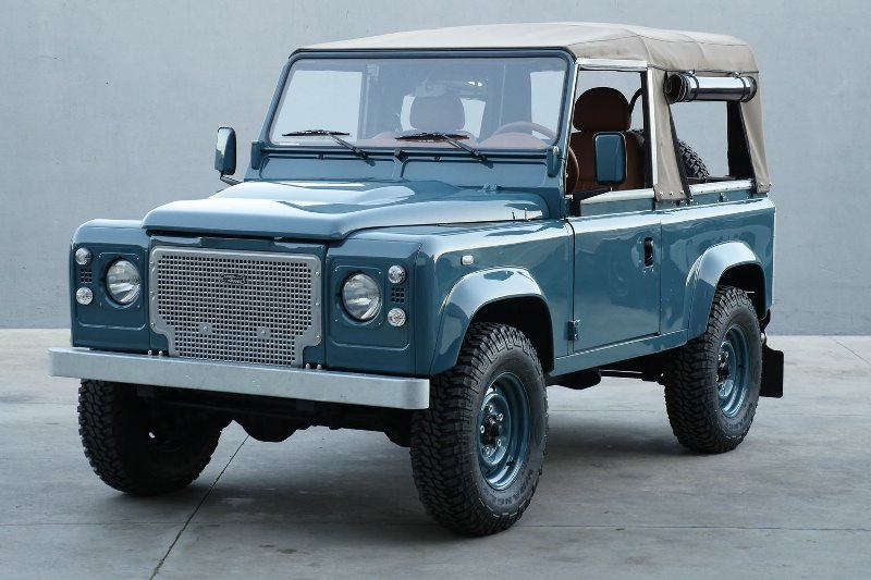 landrover defender longjohn Marine Blue High Quality Glasurit Paint car auto sale denimhead indigo blue blauw vintage 4x4 denimpeople classic uk (3)