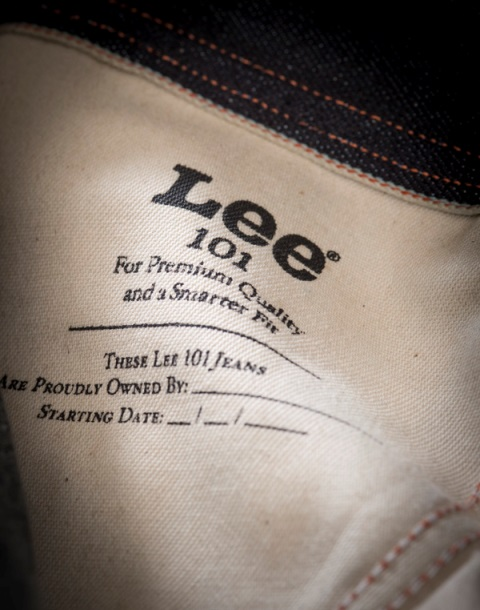 lee 101 jeans long john blog cinch tapered raw 16oz 16 ounce japan fabric selvage selvedge blue rigid unwashed rigid spring summer 2016 ss16 hair on hide patch label leather (1)