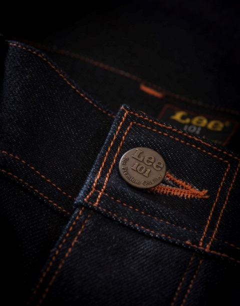 lee 101 jeans long john blog cinch tapered raw 16oz 16 ounce japan fabric selvage selvedge blue rigid unwashed rigid spring summer 2016 ss16 hair on hide patch label leather (6)