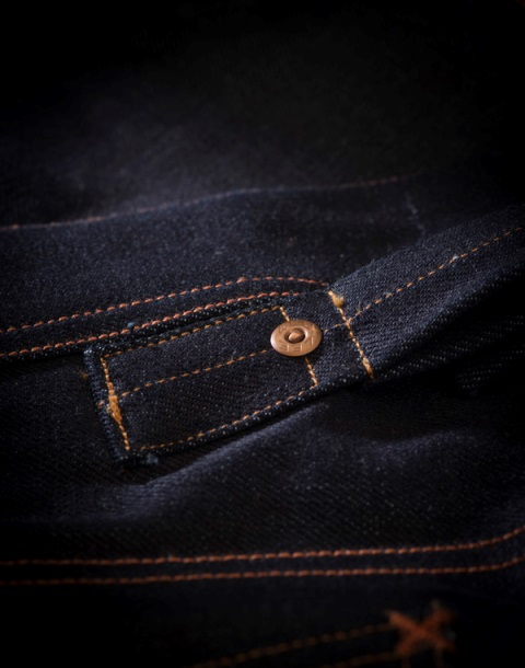 lee 101 jeans long john blog cinch tapered raw 16oz 16 ounce japan fabric selvage selvedge blue rigid unwashed rigid spring summer 2016 ss16 hair on hide patch label leather (7)