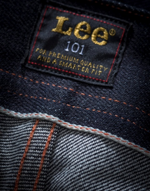 lee 101 jeans long john blog cinch tapered raw 16oz 16 ounce japan fabric selvage selvedge blue rigid unwashed rigid spring summer 2016 ss16 hair on hide patch label leather (9)