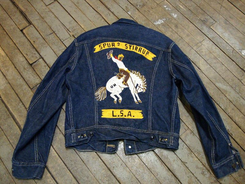 lee jeans 101-J jacket long john blog authentic blue indigo denim selvage yellow gold label selvedge usa western americana usa patched repair biker bikers cowboy miners (5)