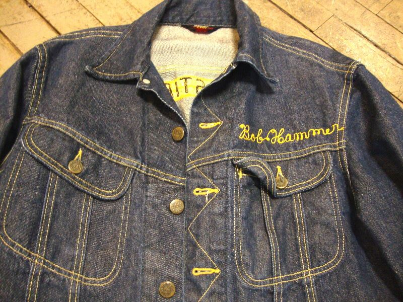 lee jeans 101-J jacket long john blog authentic blue indigo denim selvage yellow gold label selvedge usa western americana usa patched repair biker bikers cowboy miners (8)
