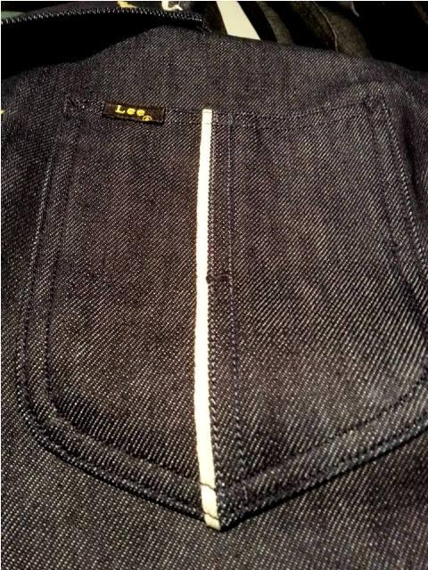 lee jeans 101 mix fabric long john blog special edition peter christ middelburg pol houtkamp blue rigid selvage green worker jacket usa americana plain selvedge  (2)
