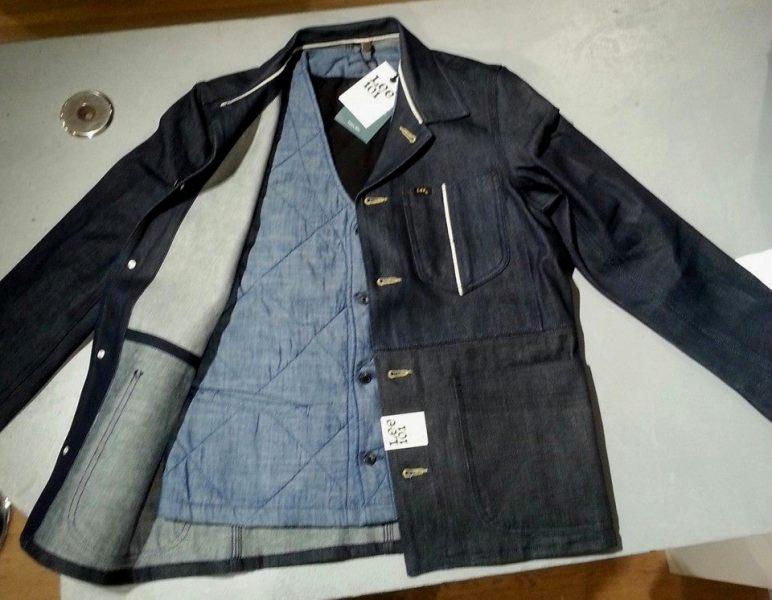 lee jeans 101 mix fabric long john blog special edition peter christ middelburg pol houtkamp blue rigid selvage green worker jacket usa americana plain selvedge  (5)