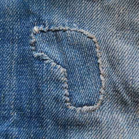 lee jeans vintage long john blog blue denim jeans ragtop clothing market david white 1945 selvage selvedge patch label needle spijkerbroek oud versleten blauw inseam pocket 5 pocket rivet rivets (8)