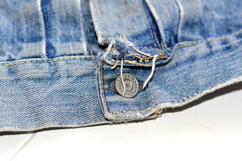 levi's 507XX kids jeans jacket jack long john blog etch a sketch member patch vintage original blue indigo type 2 usa made cone mills rivet rivets buttons (10)