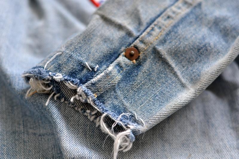 levi's 507XX kids jeans jacket jack long john blog etch a sketch member patch vintage original blue indigo type 2 usa made cone mills rivet rivets buttons (15)