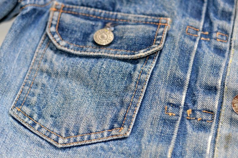 levi's 507XX kids jeans jacket jack long john blog etch a sketch member patch vintage original blue indigo type 2 usa made cone mills rivet rivets buttons (17)