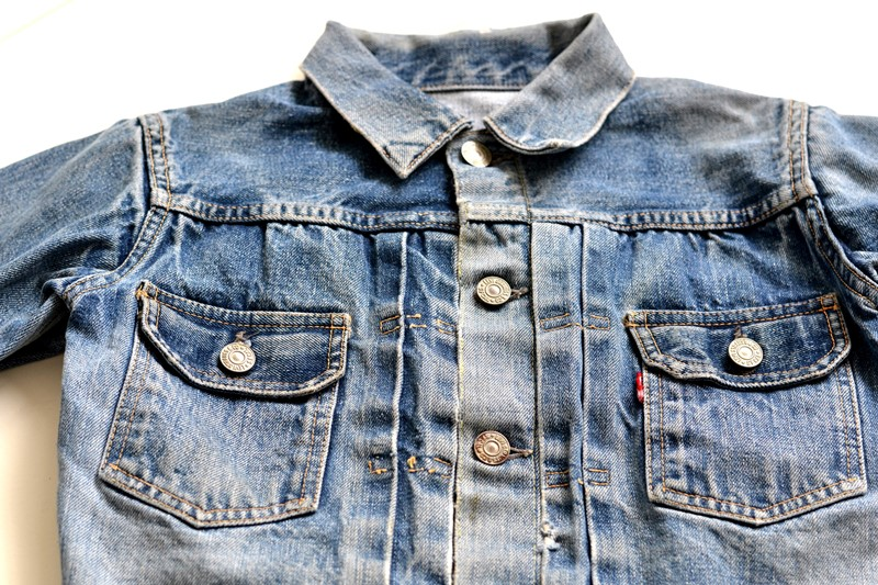 levi's 507XX kids jeans jacket jack long john blog etch a sketch member patch vintage original blue indigo type 2 usa made cone mills rivet rivets buttons (3)