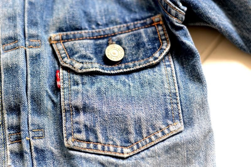 levi's 507XX kids jeans jacket jack long john blog etch a sketch member patch vintage original blue indigo type 2 usa made cone mills rivet rivets buttons (4)