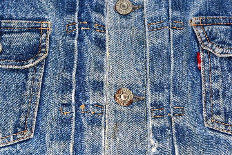 levi's 507XX kids jeans jacket jack long john blog etch a sketch member patch vintage original blue indigo type 2 usa made cone mills rivet rivets buttons (7)