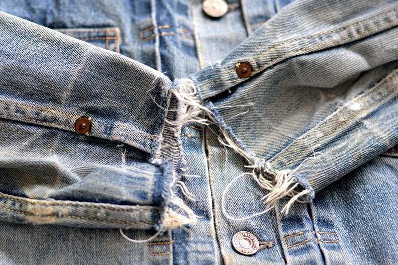 levi's 507XX kids jeans jacket jack long john blog etch a sketch member patch vintage original blue indigo type 2 usa made cone mills rivet rivets buttons (8)