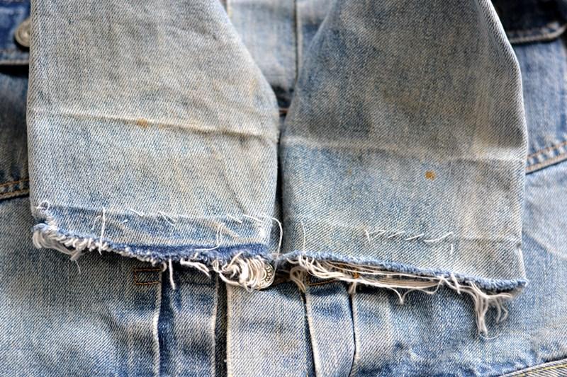 levi's 507XX kids jeans jacket jack long john blog etch a sketch member patch vintage original blue indigo type 2 usa made cone mills rivet rivets buttons (9)
