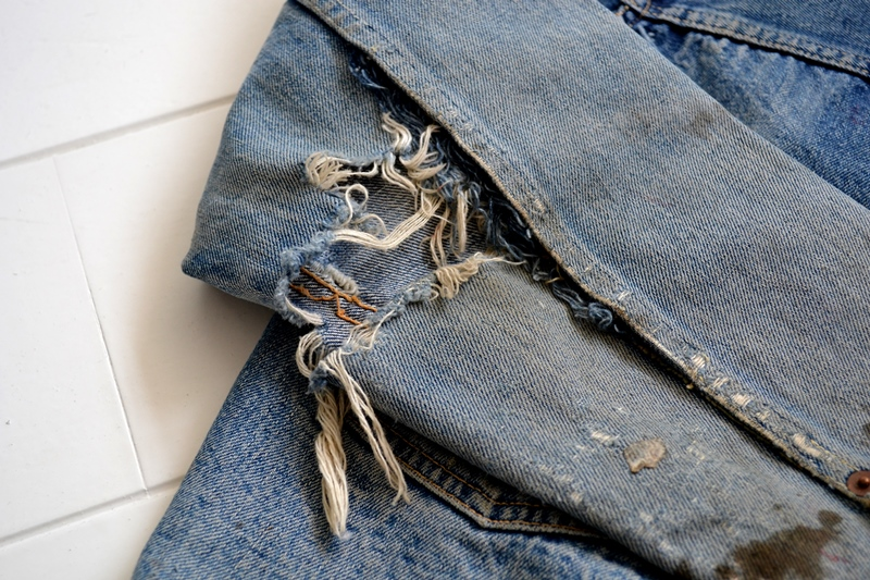 levis jeans 507XX long john blog blue indigo jacket jack vintage original wornout faded treasure archive selvage selvedge type 2 (11)
