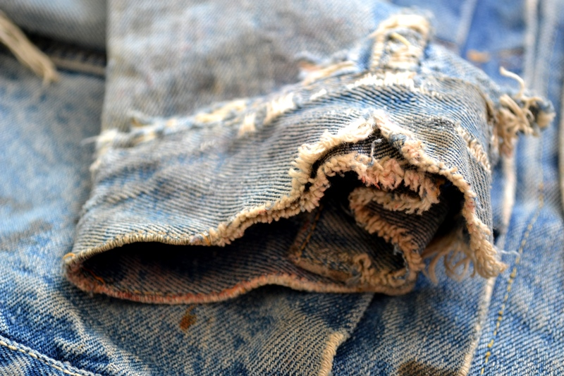 levis jeans 507XX long john blog blue indigo jacket jack vintage original wornout faded treasure archive selvage selvedge type 2 (12)