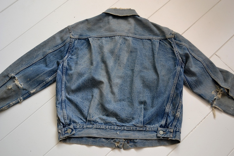 levis jeans 507XX long john blog blue indigo jacket jack vintage original wornout faded treasure archive selvage selvedge type 2 (14)