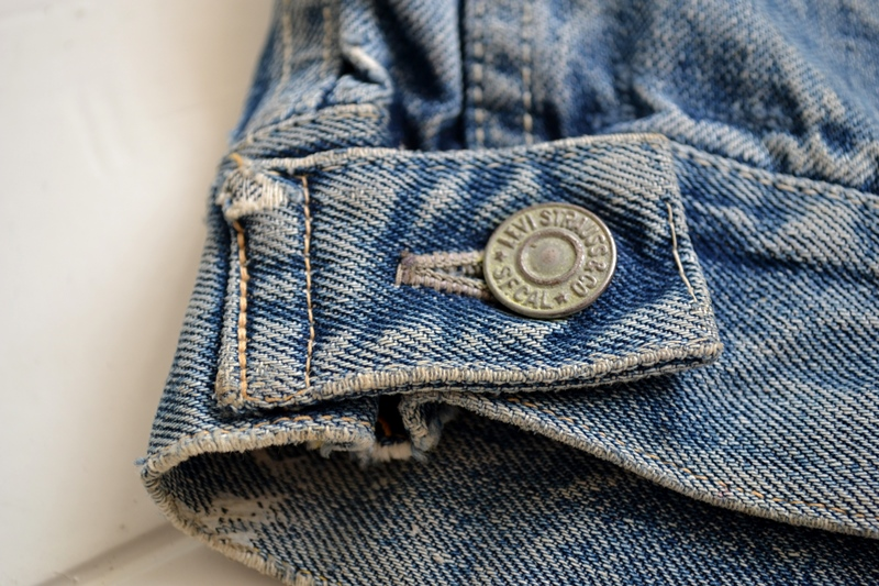 levis jeans 507XX long john blog blue indigo jacket jack vintage original wornout faded treasure archive selvage selvedge type 2 (15)