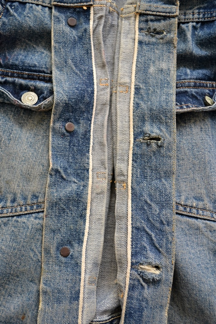 levis jeans 507XX long john blog blue indigo jacket jack vintage original wornout faded treasure archive selvage selvedge type 2 (17)