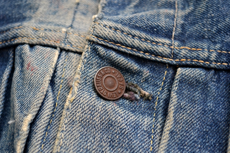 levis jeans 507XX long john blog blue indigo jacket jack vintage original wornout faded treasure archive selvage selvedge type 2 (6)
