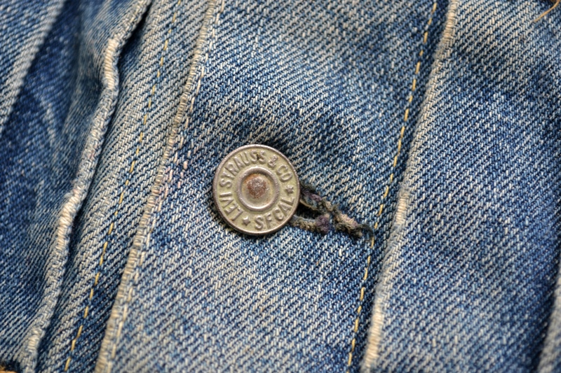 levis jeans 507XX long john blog blue indigo jacket jack vintage original wornout faded treasure archive selvage selvedge type 2 (7)