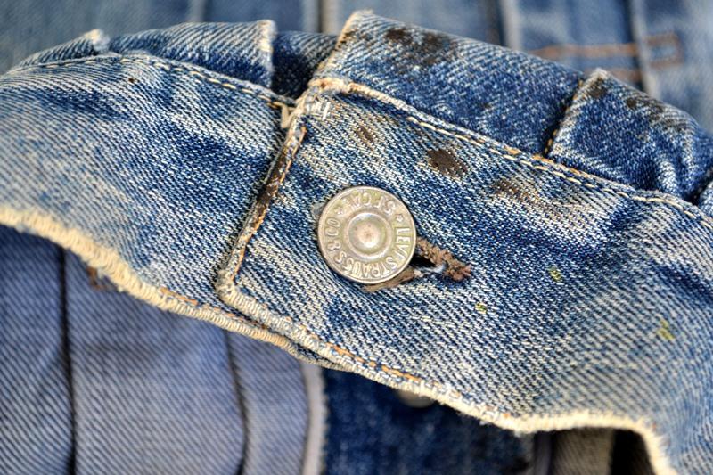 levis jeans big e type 2 507XX jacket jack long john blog biker cut-off sleeveless selvage selvedge white nomads vintage original usa harley davidson red tab us california blue indigo (1)