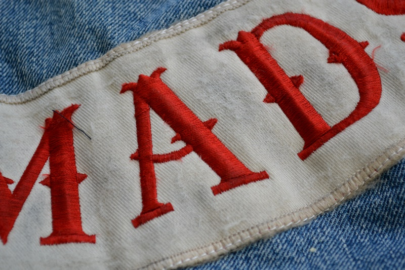 levis jeans big e type 2 507XX jacket jack long john blog biker cut-off sleeveless selvage selvedge white nomads vintage original usa harley davidson red tab us california blue indigo (11)