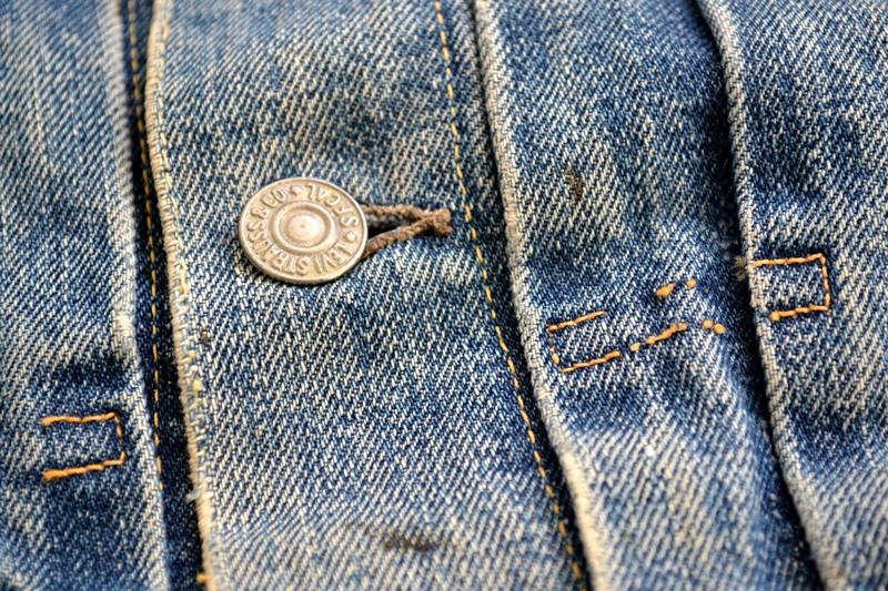 levis jeans big e type 2 507XX jacket jack long john blog biker cut-off sleeveless selvage selvedge white nomads vintage original usa harley davidson red tab us california blue indigo (14)