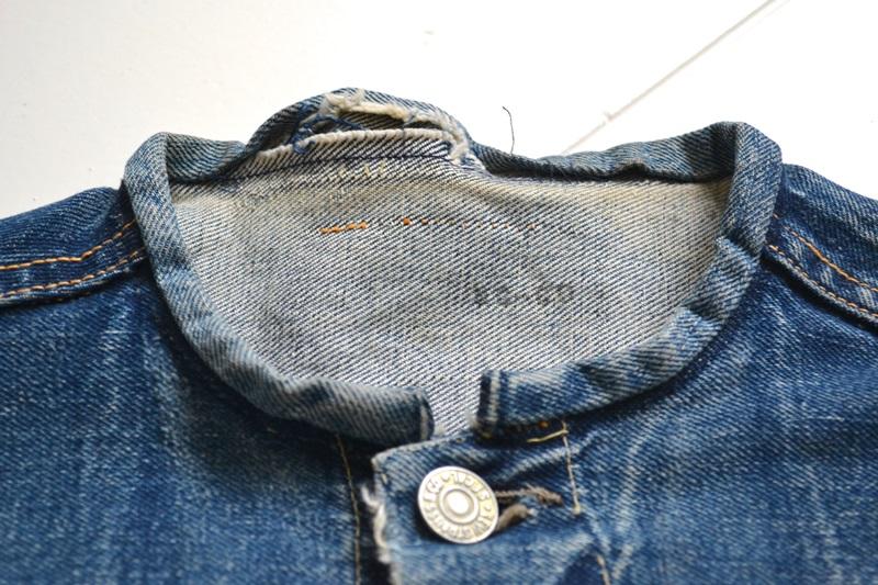 levis jeans big e type 2 507XX jacket jack long john blog biker cut-off sleeveless selvage selvedge white nomads vintage original usa harley davidson red tab us california blue indigo (4)