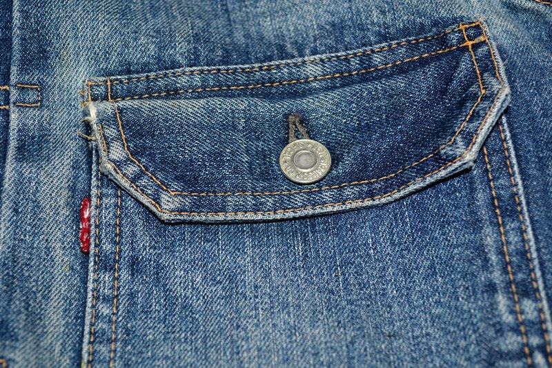 levis jeans big e type 2 507XX jacket jack long john blog biker cut-off sleeveless selvage selvedge white nomads vintage original usa harley davidson red tab us california blue indigo (6)