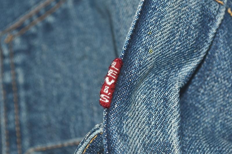 levis jeans big e type 2 507XX jacket jack long john blog biker cut-off sleeveless selvage selvedge white nomads vintage original usa harley davidson red tab us california blue indigo (7)
