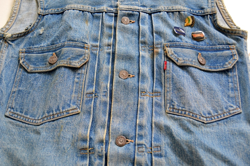 levi's vintage long john blog 507XX jack jacket type 2 1950 big e bige red tab worn-out original bleu inidgo usa america selvage selvedge buttons rock and roll elvis james dean (12)
