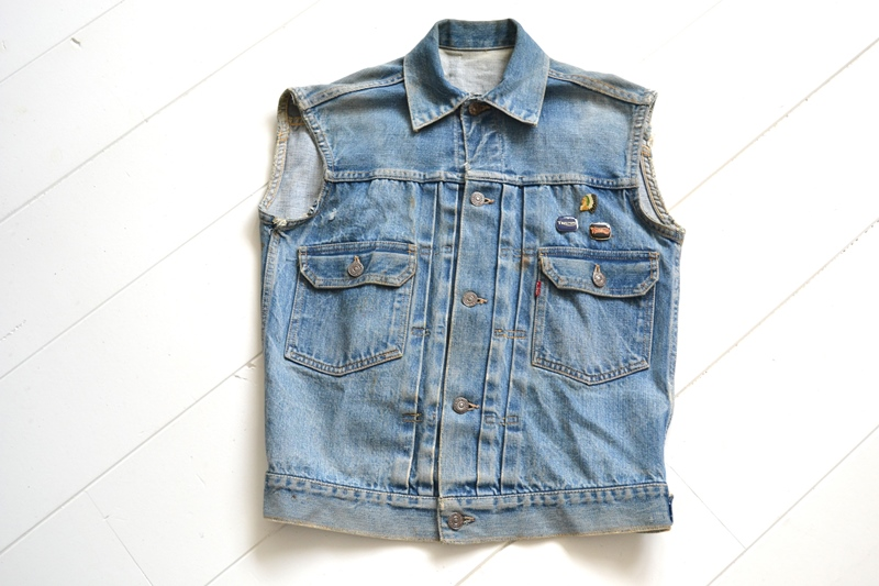 levi's vintage long john blog 507XX jack jacket type 2 1950 big e bige red tab worn-out original bleu inidgo usa america selvage selvedge buttons rock and roll elvis james dean (2)