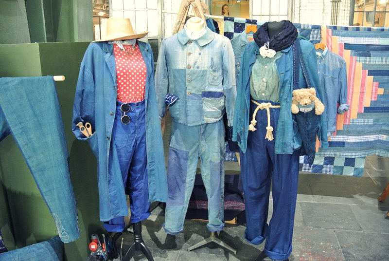 lizzie kroeze facing west amsterdam indigo long john blog expo workwear jackets jeans denim blue textilles clothing bread and butter july 2014 germany handmade sashiko japan usa us traditional (10)