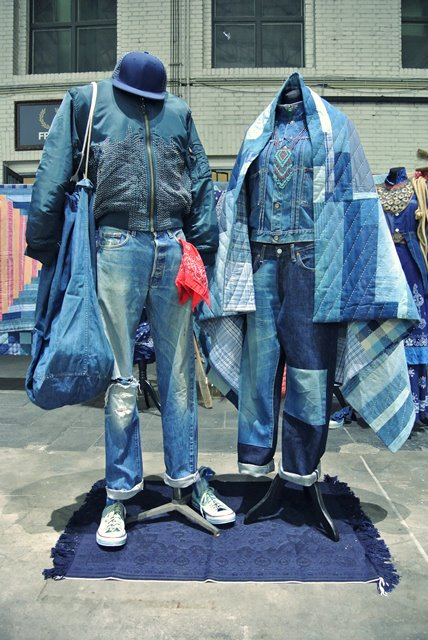 lizzie kroeze facing west amsterdam indigo long john blog expo workwear jackets jeans denim blue textilles clothing bread and butter july 2014 germany handmade sashiko japan usa us traditional (2)