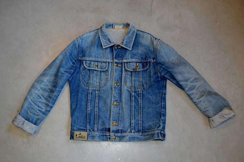 lois denim jeans long john blog spain 1962 michael blankenstein eindhoven holland tejana jacket slim fit workwear abba bjorn borg bull is back blue rigid honey combs non-selvage made in spain leather patch  (
