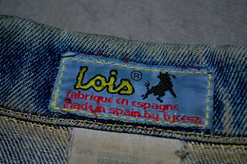 lois denim jeans long john blog spain 1962 michael blankenstein eindhoven holland tejana jacket slim fit workwear abba bjorn borg bull is back blue rigid honey combs non-selvage made in spain leather patch  ( (5)