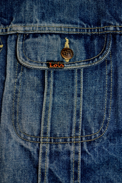 lois denim jeans long john blog spain 1962 michael blankenstein eindhoven holland tejana jacket slim fit workwear abba bjorn borg bull is back blue rigid honey combs non-selvage made in spain leather patch  ( (6)