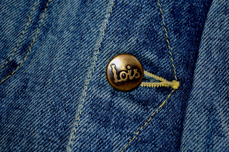 lois denim jeans long john blog spain 1962 michael blankenstein eindhoven holland tejana jacket slim fit workwear abba bjorn borg bull is back blue rigid honey combs non-selvage made in spain leather patch  ( (9)