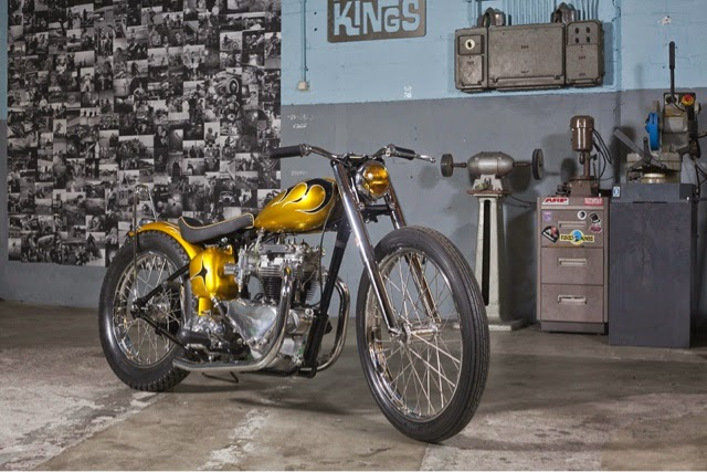 long john blog gaston FlakeKings flakekings eindhoven hollan nl 1952 Triumph Pre-Unit Chopper 650cc. pre-unit painkiller triumph bikers bike for sale custommade handmade yellow ride of the day   (2)