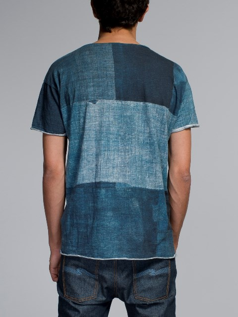 nudie jeans long john blog boro japan tshirt blue blauw shades indigo natural print printed sweden maria denim brand clothing 2004 handmade (1)