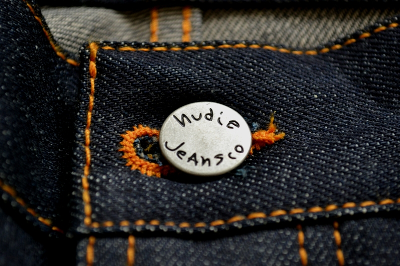 nudie jeans long john blog sweden grim tim orange selvage selvedge denim rock and roll music leather patch button straight fit coin pocket yoke right hand fabric 5 pocket (11)