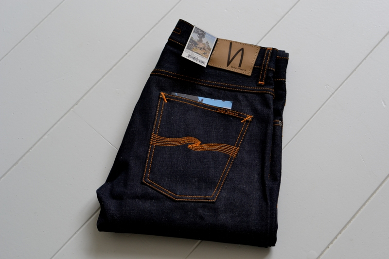 nudie jeans long john blog sweden grim tim orange selvage selvedge denim rock and roll music leather patch button straight fit coin pocket yoke right hand fabric 5 pocket (2)