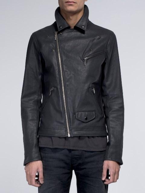 nudie jeans sixten punk jacket long john blog denim jeans bikers biker sweden coated denim jeans black blue indigo new collection 2015 maria  (5)