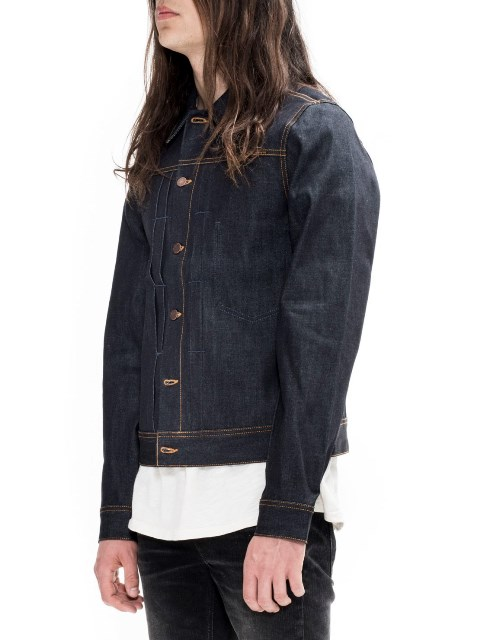 nudie jeans sonny dry ring denim long john blog denim rigid raw unwashed selvage selvedge blue indigo jacket jack sweden  (1)