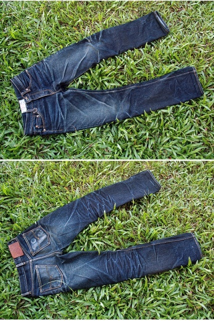 old blue jeans denim long john blog selvage selvedge redline unwashed rigid indigo leatherpatch leather patch denimheads denimhead denim people (10)