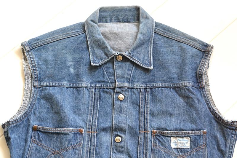 power house 101 powr house long john blog jeans jacket jack denim vintage 1960 montgomery ward authentic original denimheads blue indigo worn-out wornout faded (3)