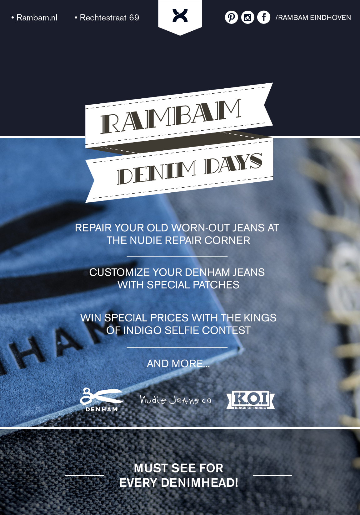 rambam store winkel eindhoven long john blog denim days 2016 september blue denham kings of indigo nudie jeans (1)